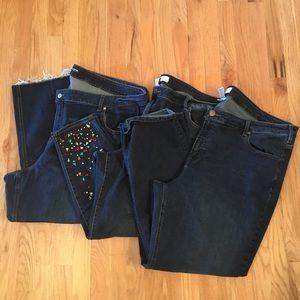 Bundle of 3 jeans size 28 plus